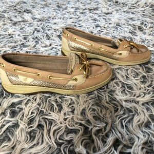 Sperry Top Sider shoes with glitter size 7